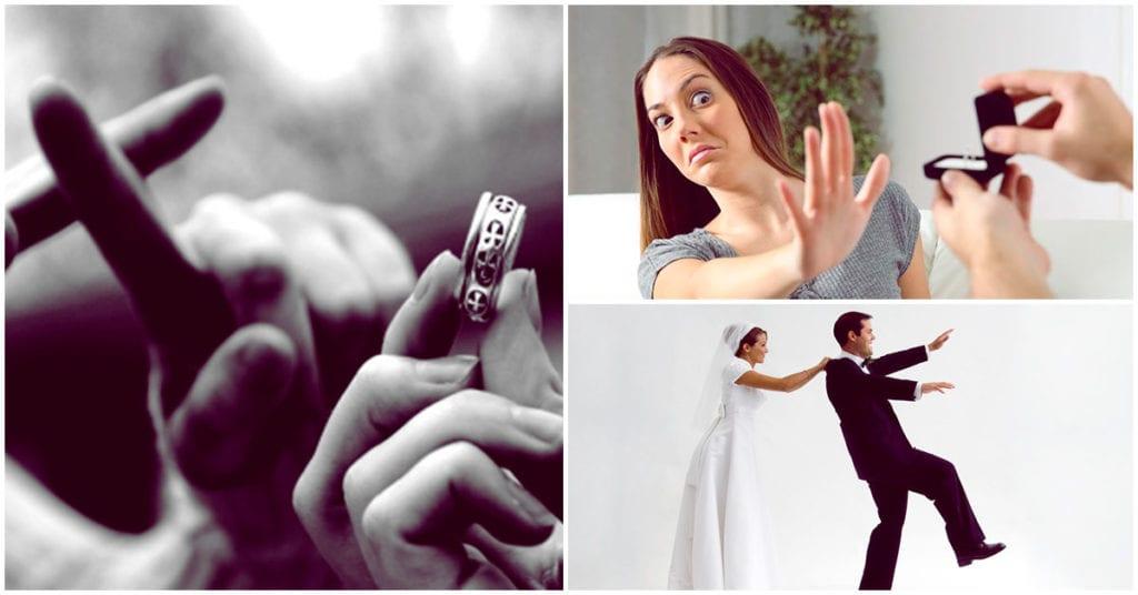 El miedo al matrimonio existe y se llama gamofobia
