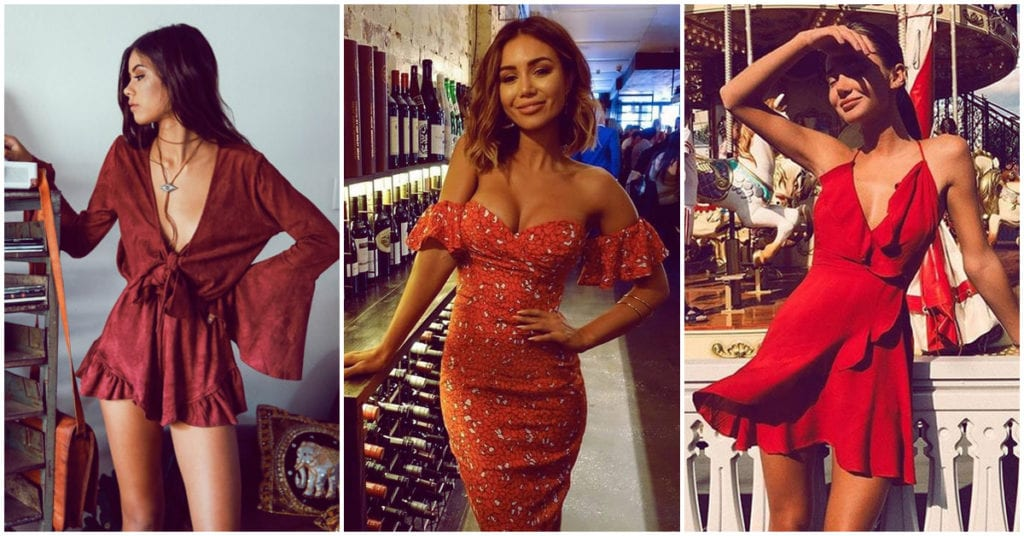 ¿Cómo me maquillo si voy a usar un vestido rojo?