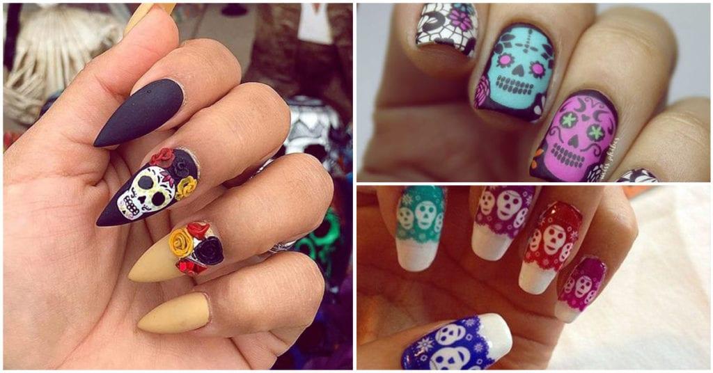 Los mejores diseños para tus uñas este Día de Muertos