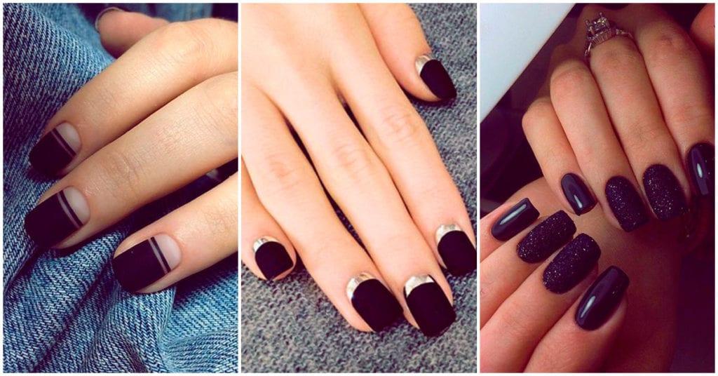 Uñas negras con diseños super bonitos para Halloween