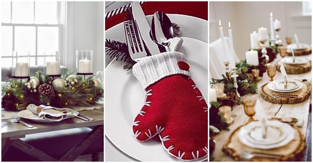 Ideas para decorar tu mesa en la cena navideña