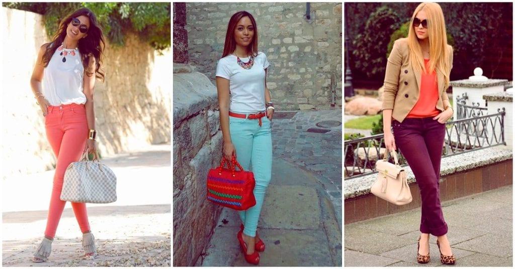 Outfits con pantalones de colores, ¡te van a encantar!