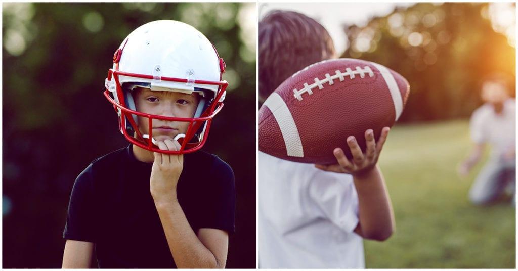 Futbol americano para los niños: ¿sí o no?