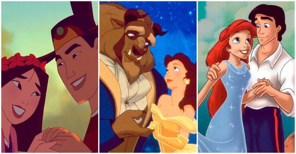 Parejas Disney, ¿a cuál se parecen tú y tu pareja?