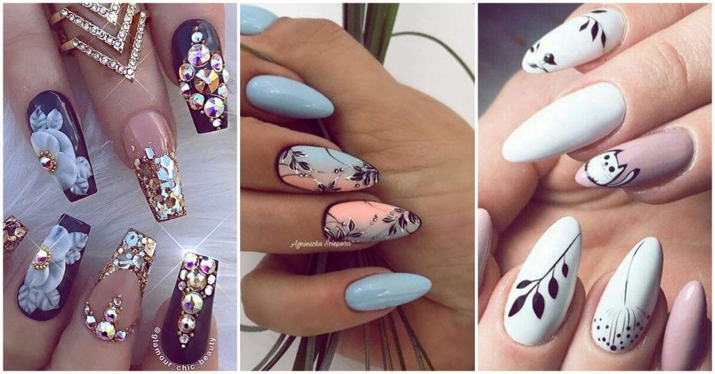 Los nuevos diseños florales para tus uñas del 2019, ¡super refinados!