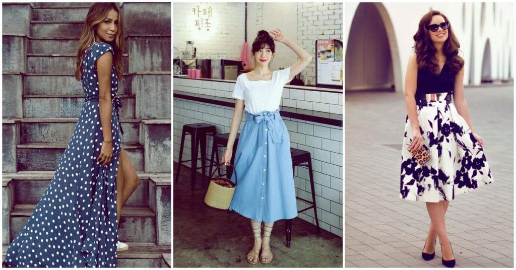 Vestidos y faldas que puedes usar si tienes problema de várices