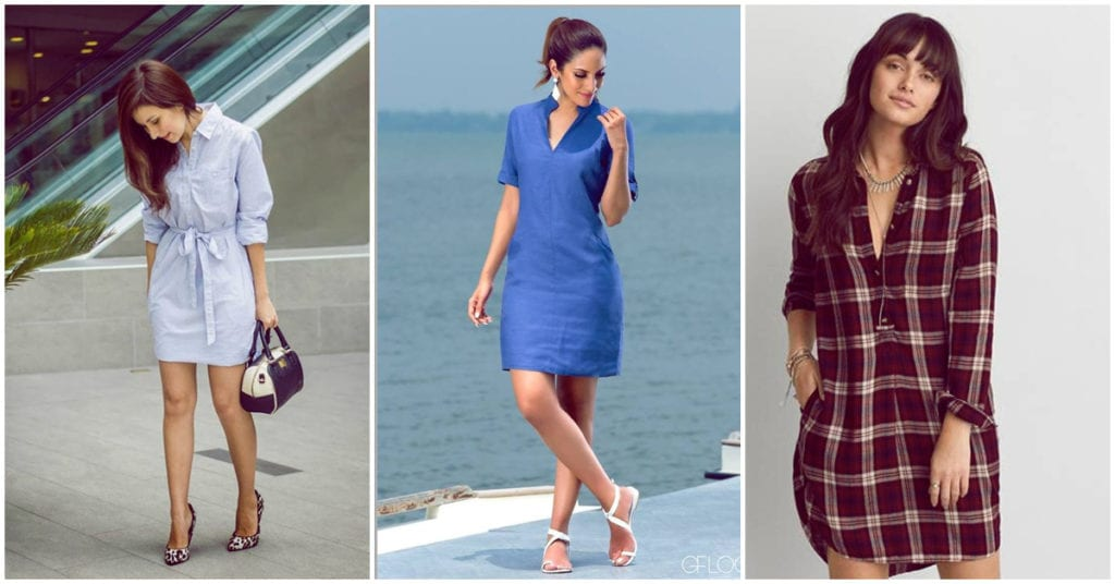 Cómo usar vestidos camiseros con estilo