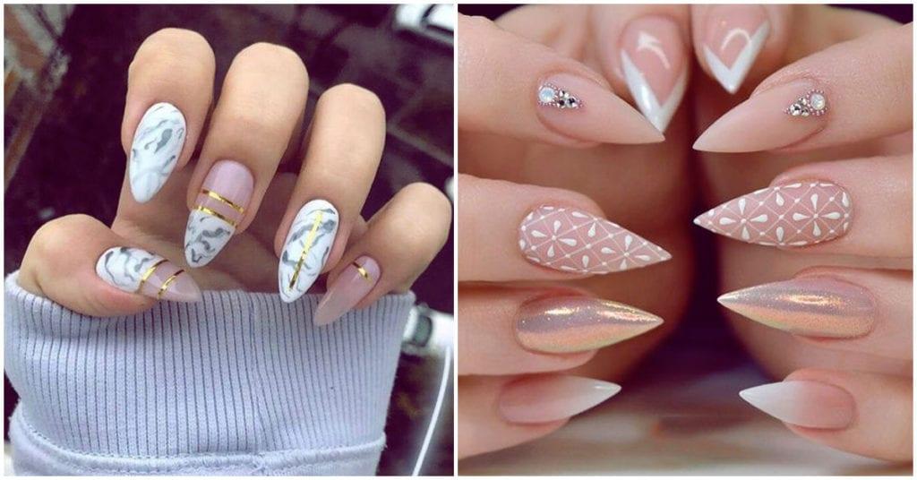 Diseños increíbles en uñas puntiagudas; ¿te gustan?