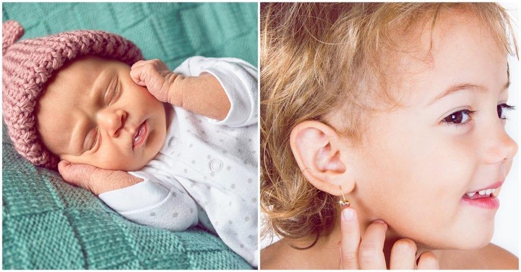 Perforar las orejas de tu bebé, ¿sí o no?, ¿cuándo?