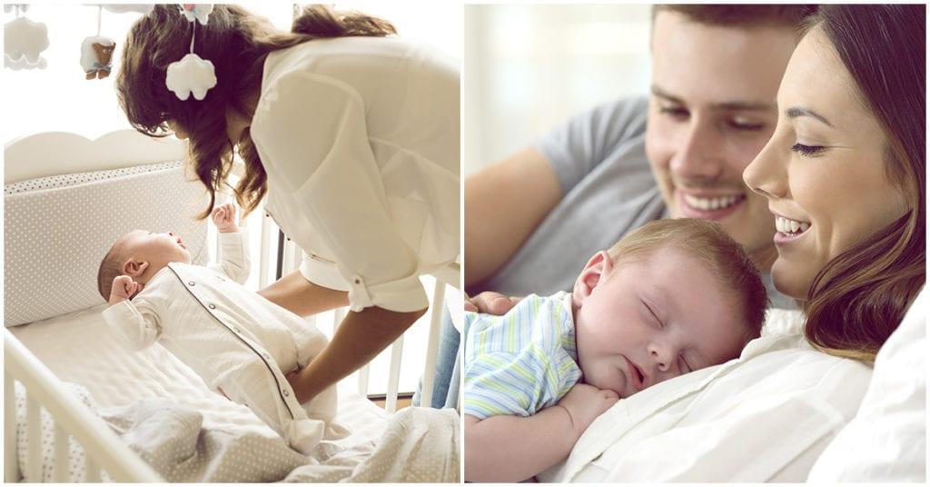 Durmiendo con el bebé: ¿buena o mala idea?