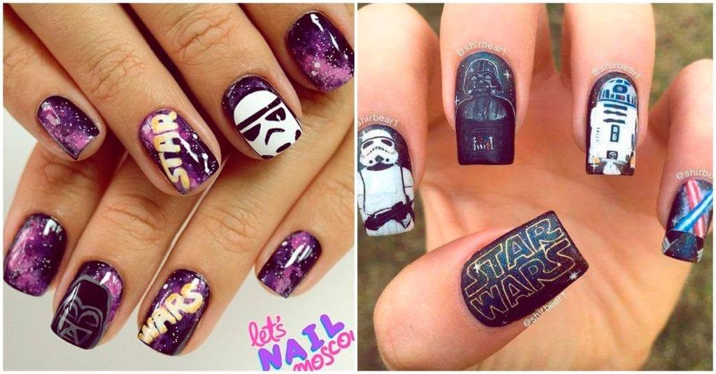 Los mejores diseños de uñas para las fanáticas de Star Wars