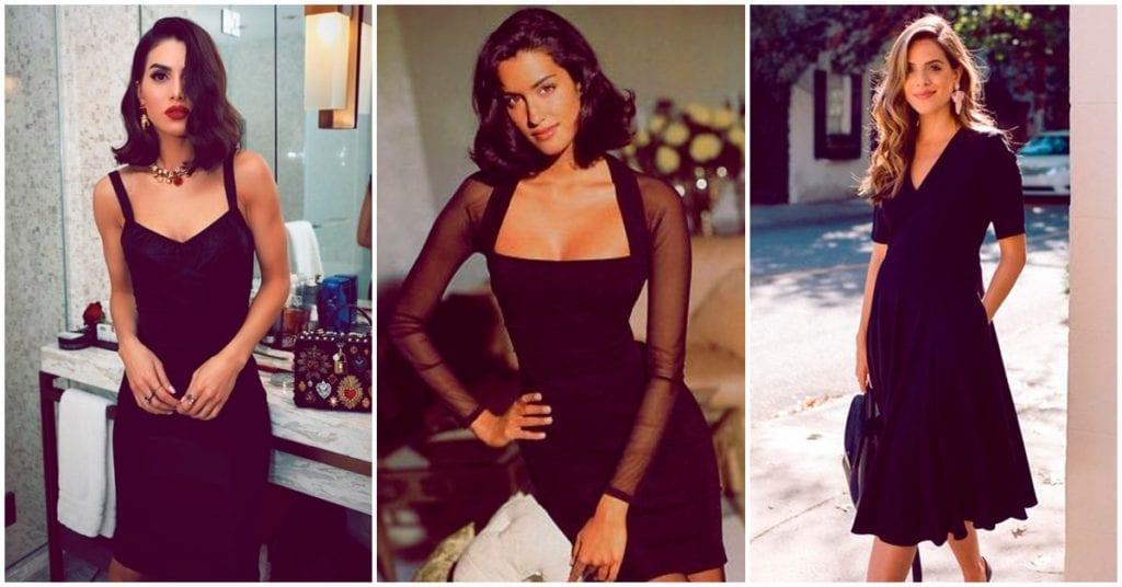 Un vestido negro siempre es la solución, ¡aprende a usarlo!