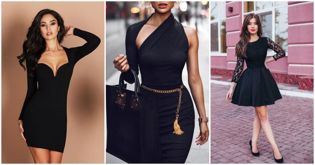 Las mejores combinaciones para usar tus vestidos negros pegaditos ¡wow!