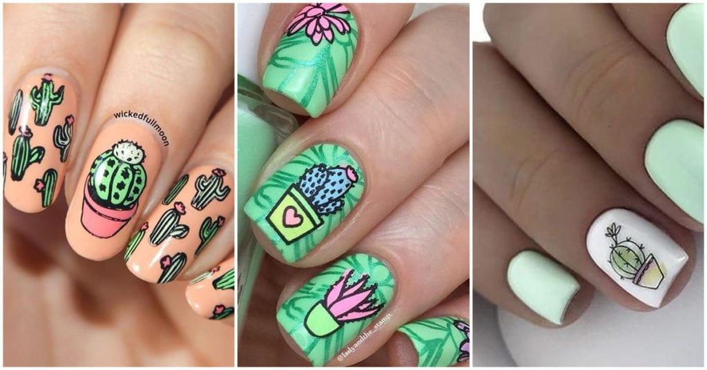 Amantes de los cactus, estas son algunas ideas para traer en sus uñas; ¡wow!