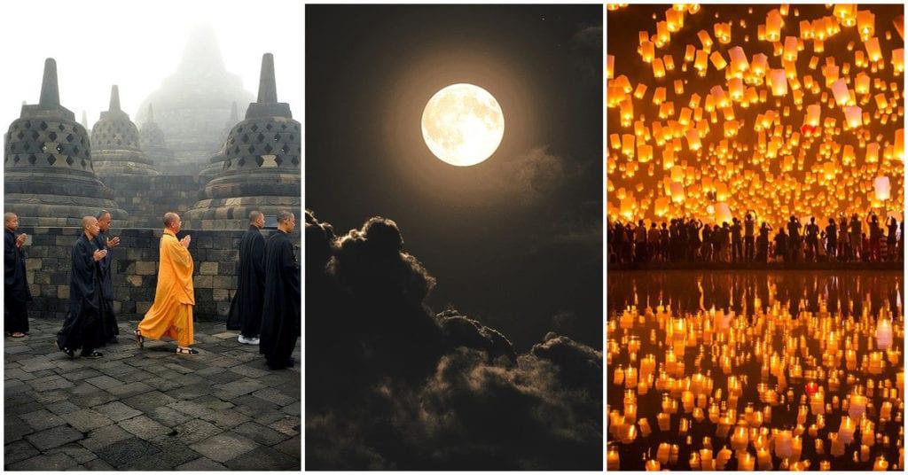 La primera luna llena de mayo se celebra el Wesak
