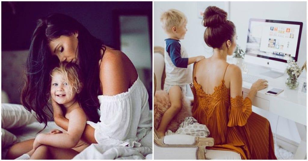El papel de una madre millennial en la vida de sus hijos
