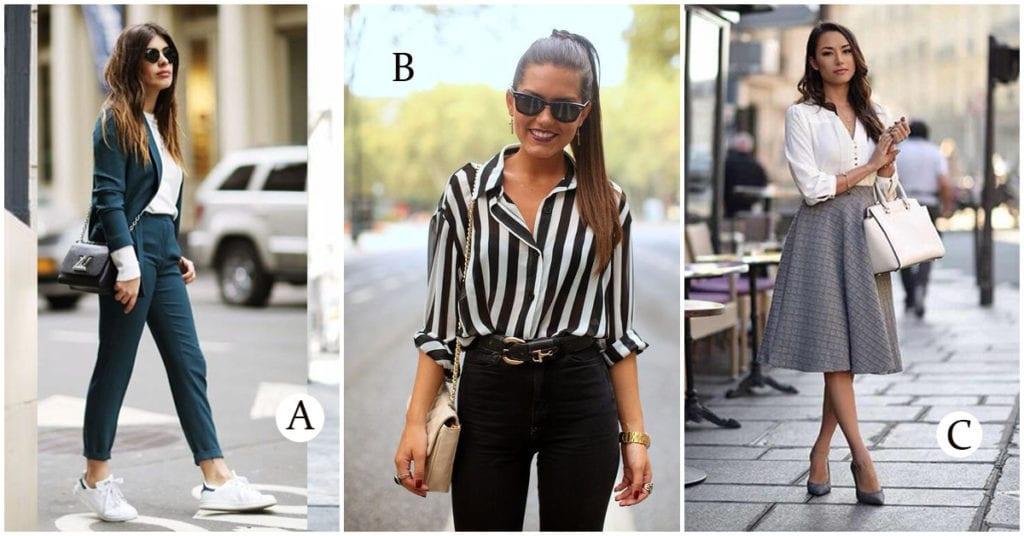 Cuál de estos outfits es el más fashion para ir a la oficina