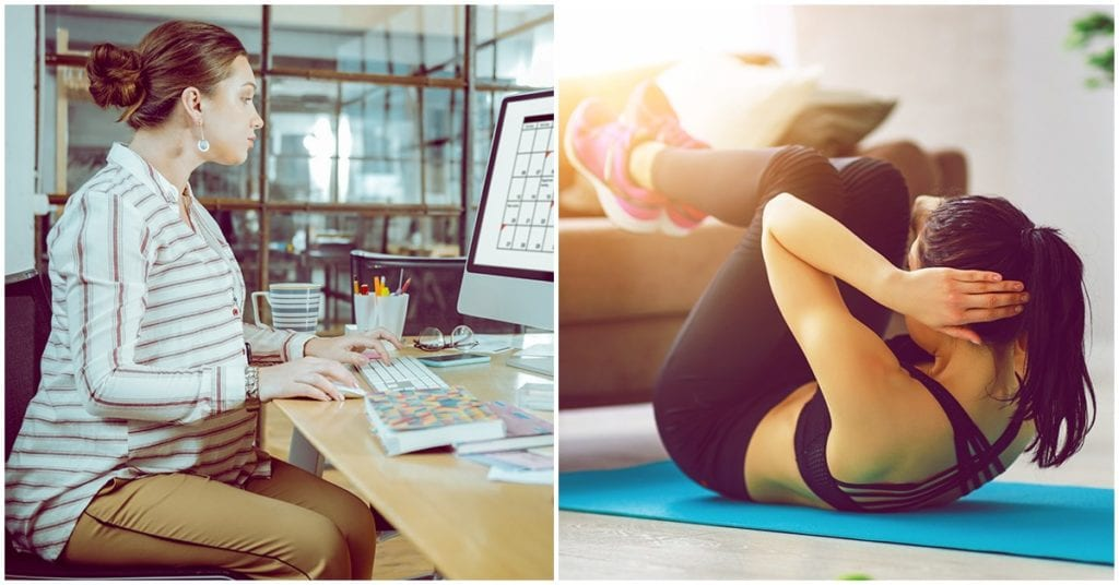 Si pasas mucho tiempo sentada, esto es lo que debes hacer para cuidar de tu salud