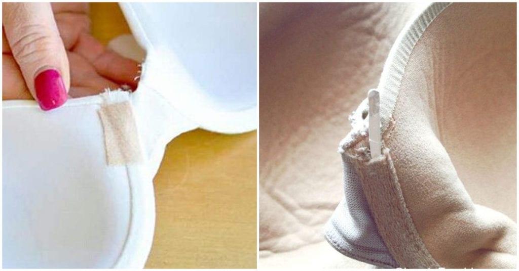 Cómo reparar un bra con defectos como una varilla salida