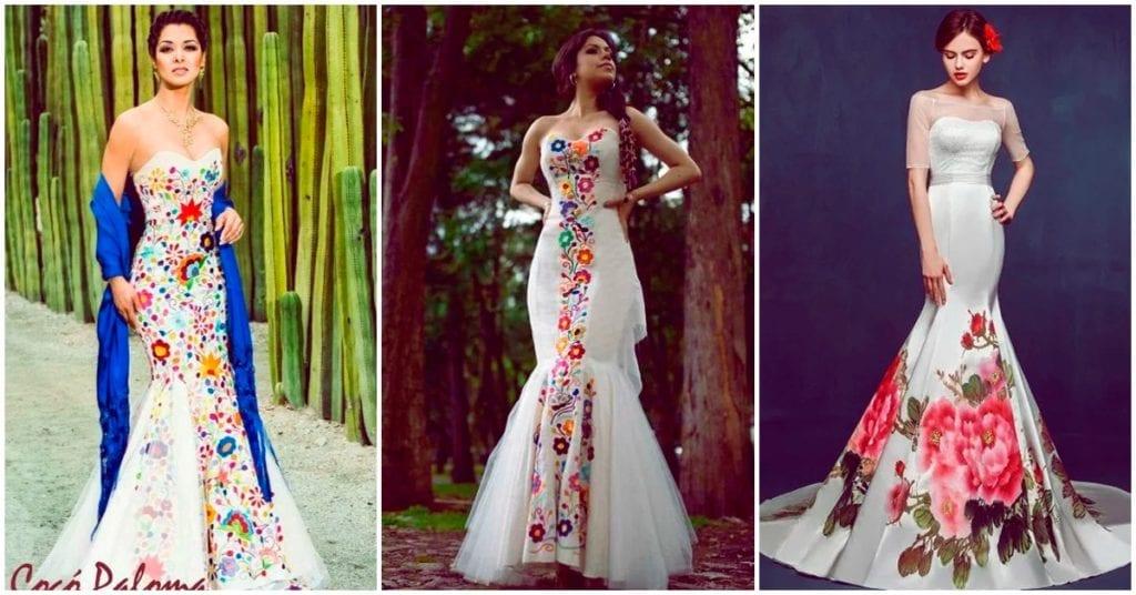 Vestidos de novia con un toque muy mexicano que te encantarán