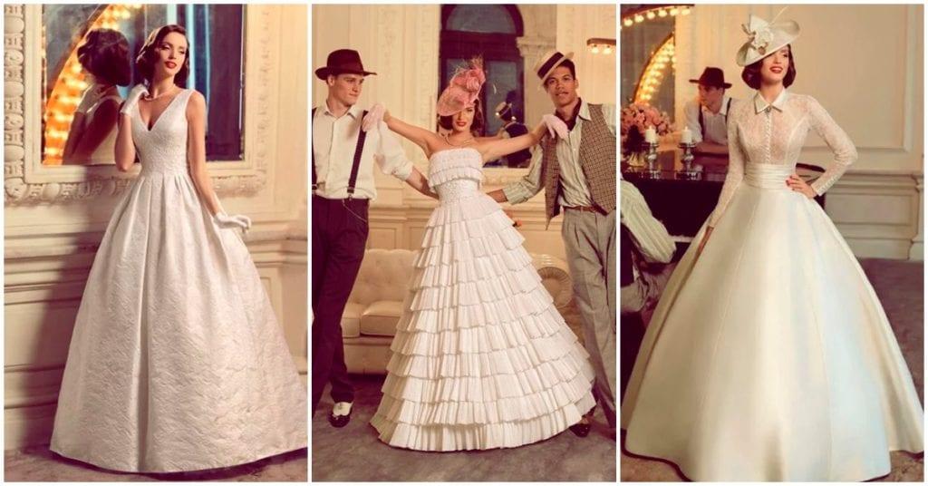 Vestidos de novia de la década de los 40 que querrás usar en tu boda