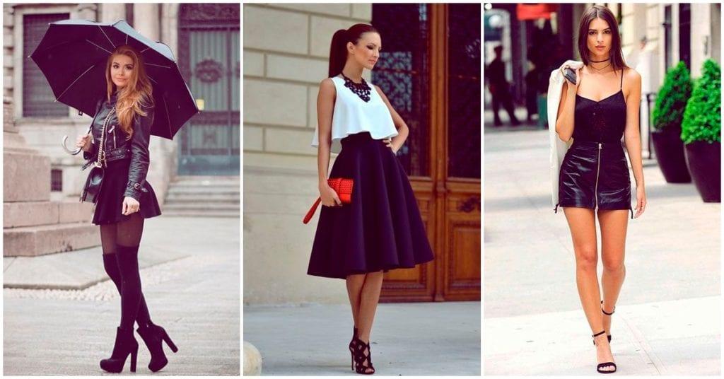 Cómo combinar tus faldas negras para no lucir aburrida