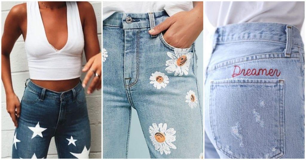 Jeans con estampados cool para tener un outfit más fashion
