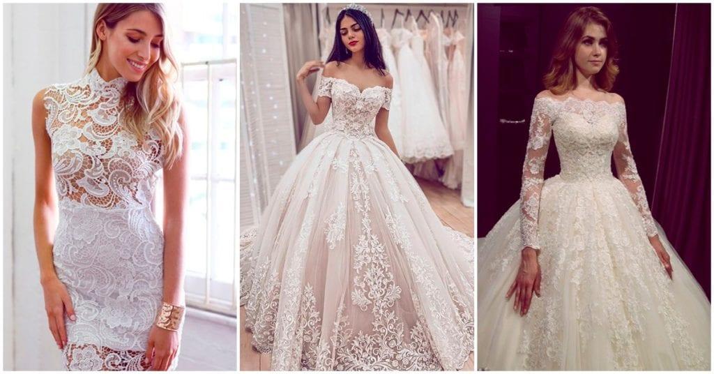Los vestidos de novia con encaje más bonitos
