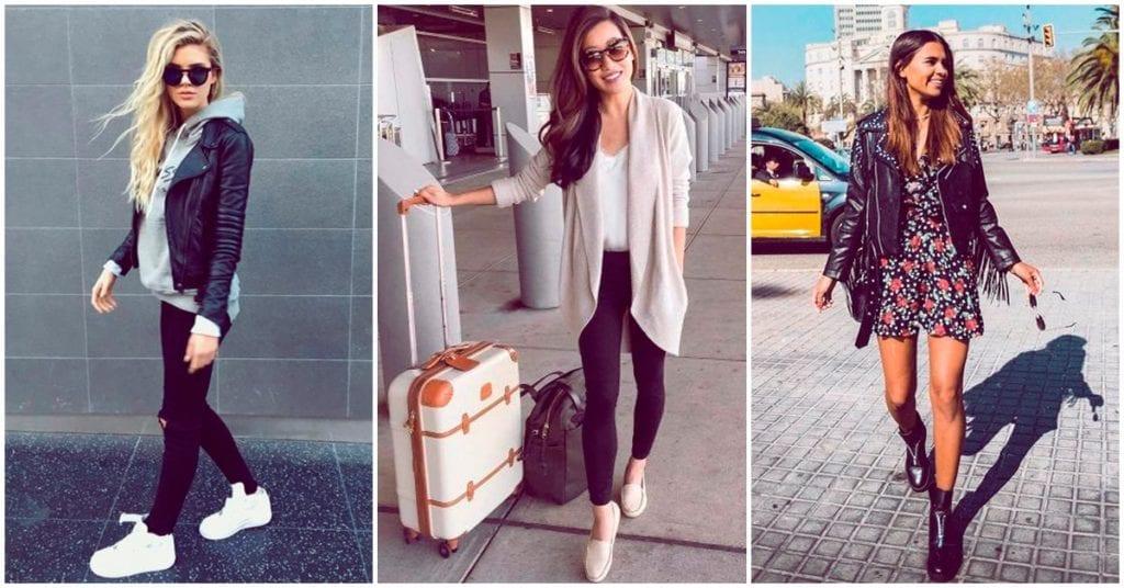 Los mejores outfits para viajar en avión super cómoda y sin perder el estilo