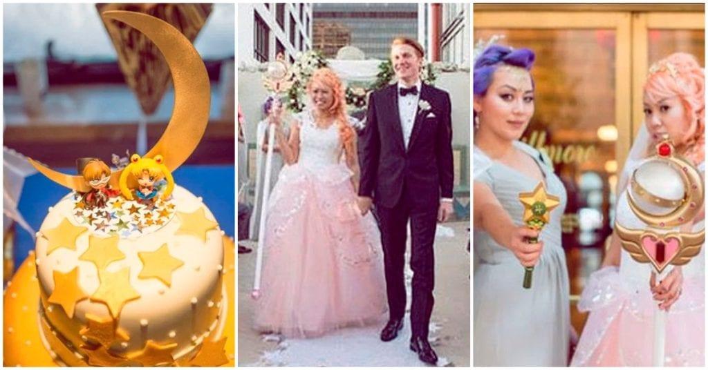 Esta pareja llevó su amor por Sailor Moon hasta el altar