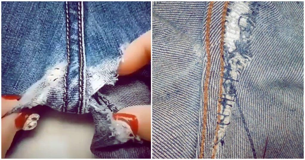 Cómo arreglar los hoyos por roce de tus pantalones