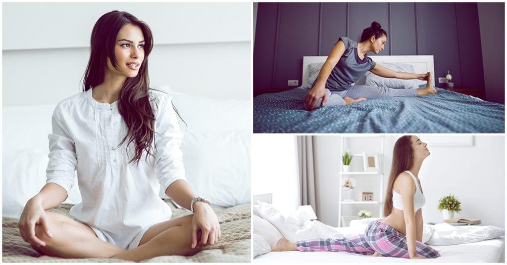 ¡Así puedes estirarte antes de ir a la cama sin que te dé un calambre!