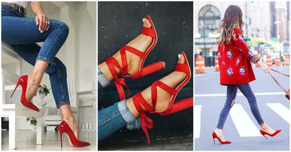 Outfits con los que puedes usar tacones rojos; ¡super sexy!