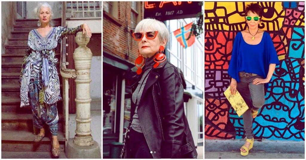 Para la moda no hay edad y estas reinas lo prueban 👵😎