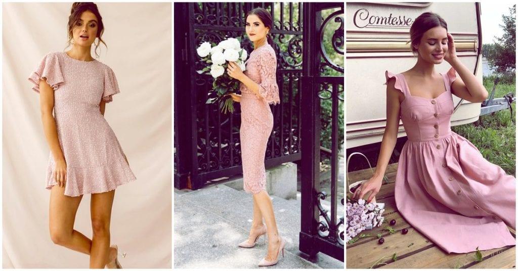 Vestidos rosas que van perfecto con el estilo romántico