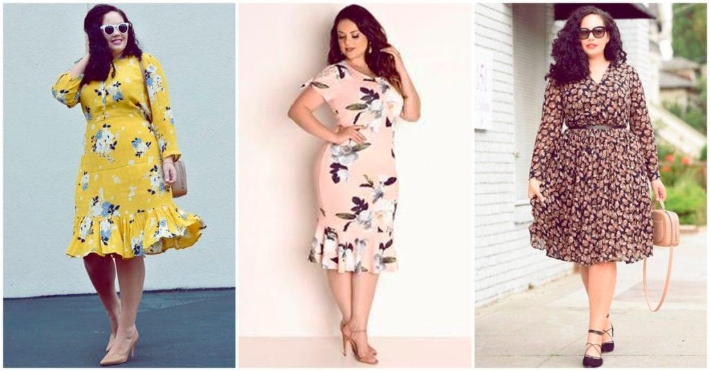 Vestidos floreados: cómo lucirlos si eres una chica curvy