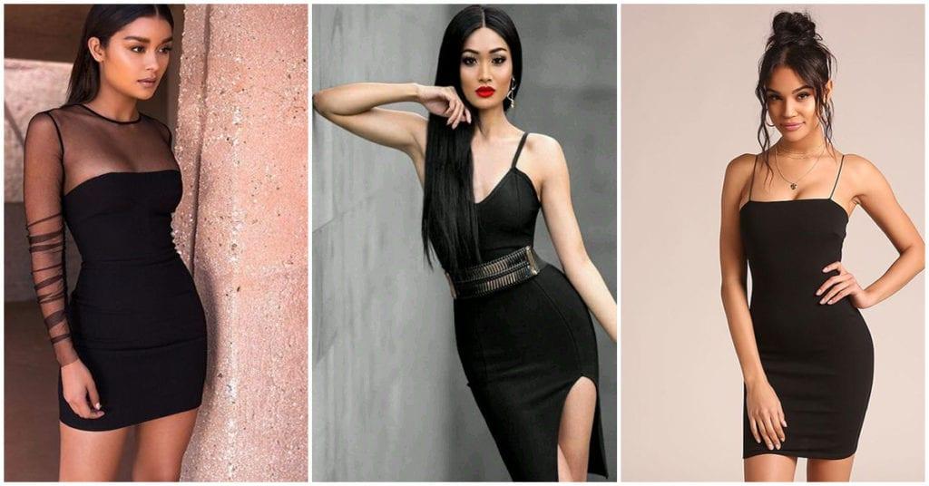 Cómo usar vestidos negros pegaditos como una experta en moda