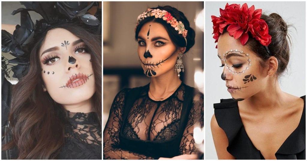 Makeups de catrinas rapiditos para que no salgas sin disfraz