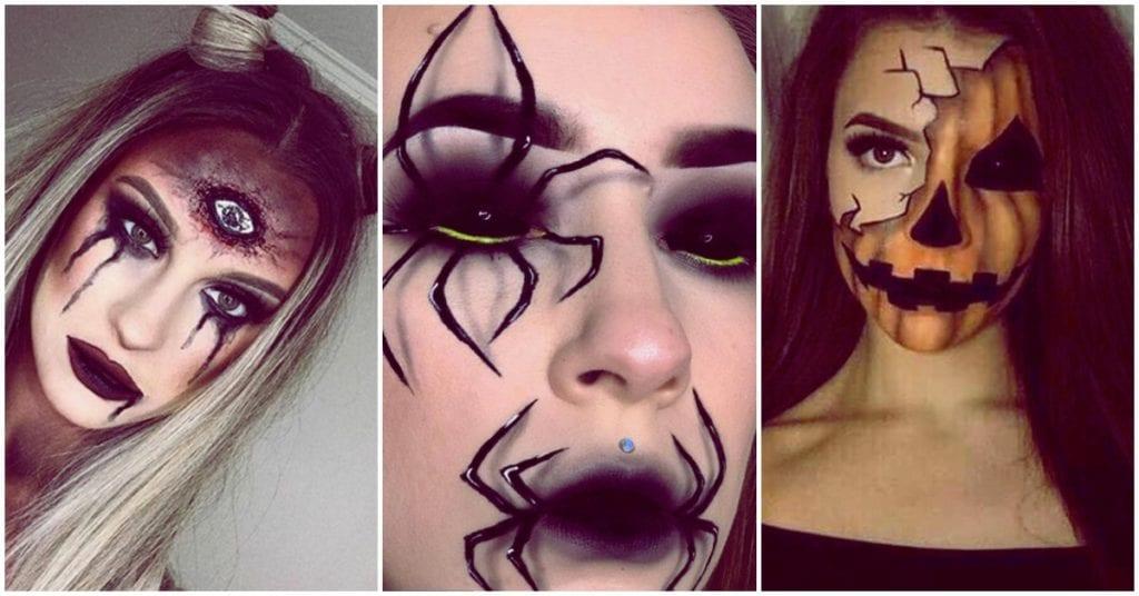 Makeup escalofriante para la noche de brujas