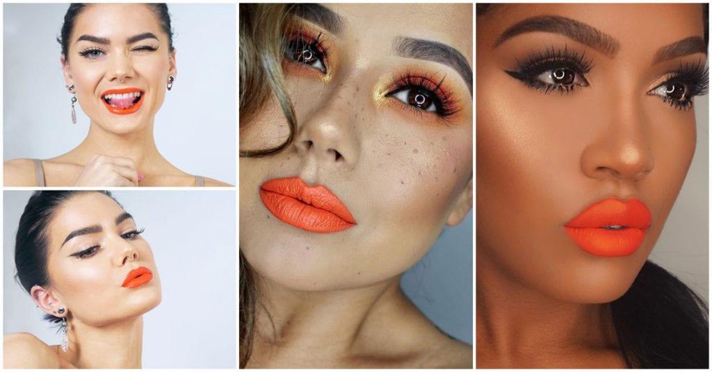 Cómo puedes combinar tus labios color naranja, el mejor labial para las morenas