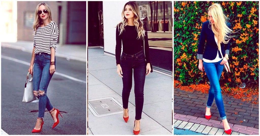 Outfits con los que puedes combinar tus tacones rojos a la perfección