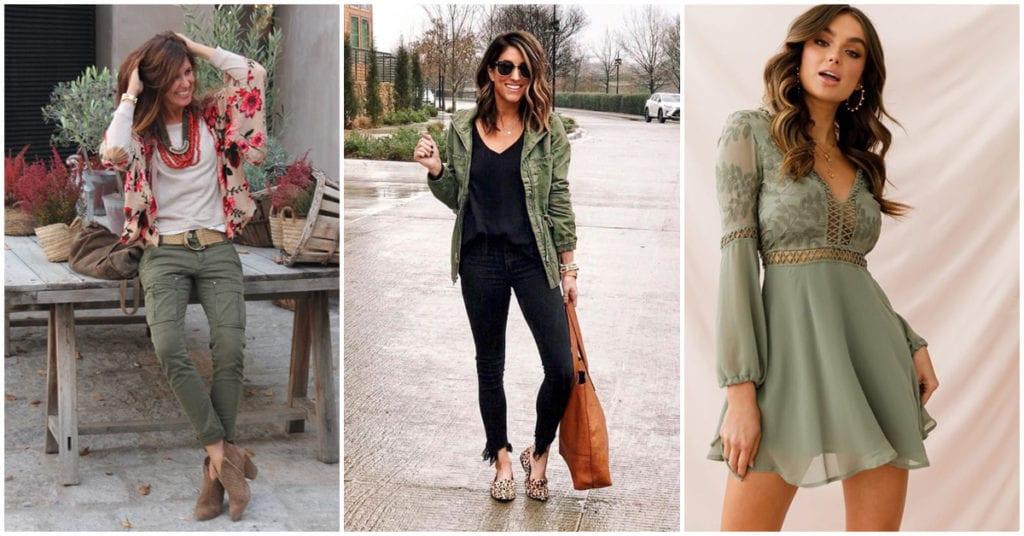 Formas sexys de combinar tus prendas color olivo