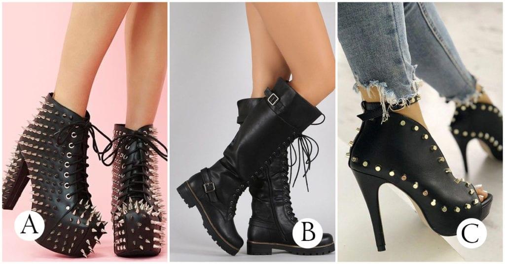 Botas para las chicas que tienen un estilo más rockero