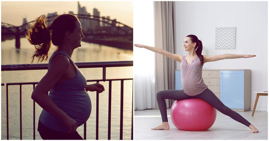 Ejercicios seguros para las chicas que están esperando baby