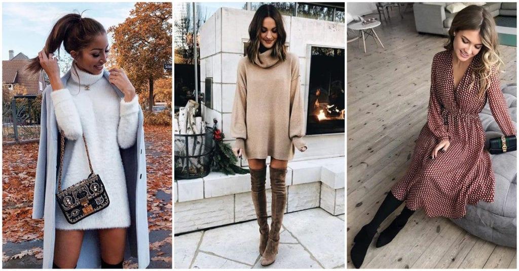 Vestidos que puedes usar durante el otoño-invierno con mucho estilo