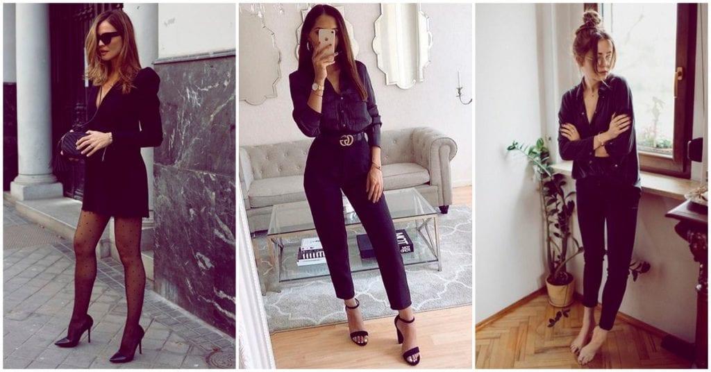 Cosas que sólo entendemos las que amamos los outfits total black