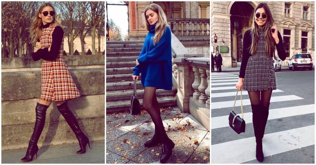 Cómo usar vestidos en época de frío, con todo el estilo