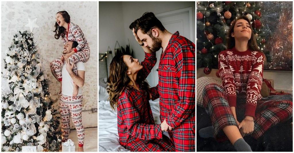Pijamas de Navidad horribles para las mejores fotos en pareja