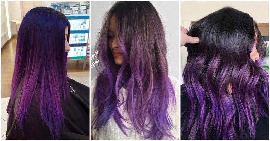 El violeta perfecto para las chicas que quieren un nuevo look