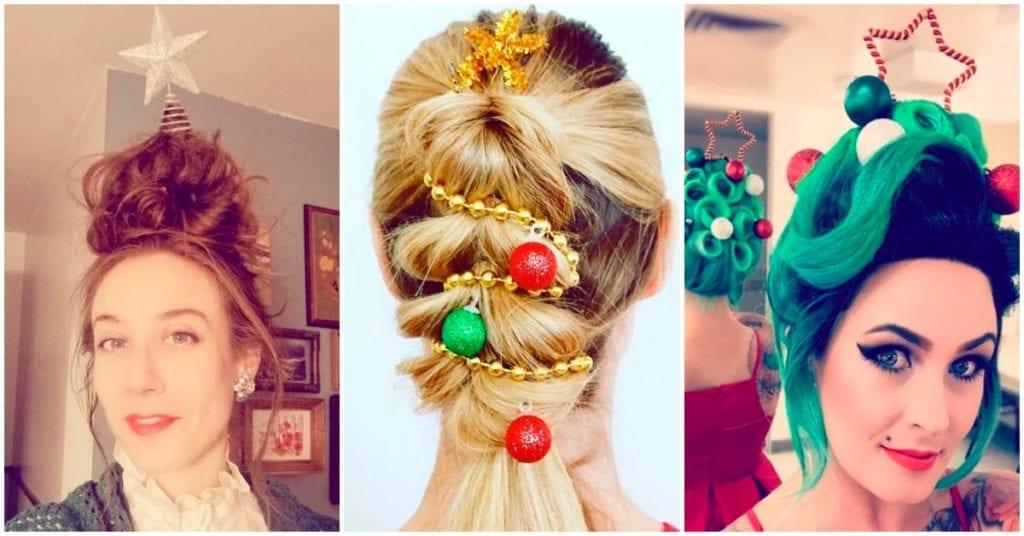 Cómo llevar la Navidad en tu cabello para ser la más original esta época